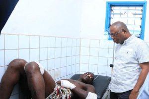 Le Vp Damana Pickas au chevet des blessés de la répression du 17 juin