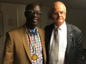 Mr Maxime Anoman actuel président de l'AISS(Association des ivoiriens au sud de la Suède) et DG de la structure Max Show