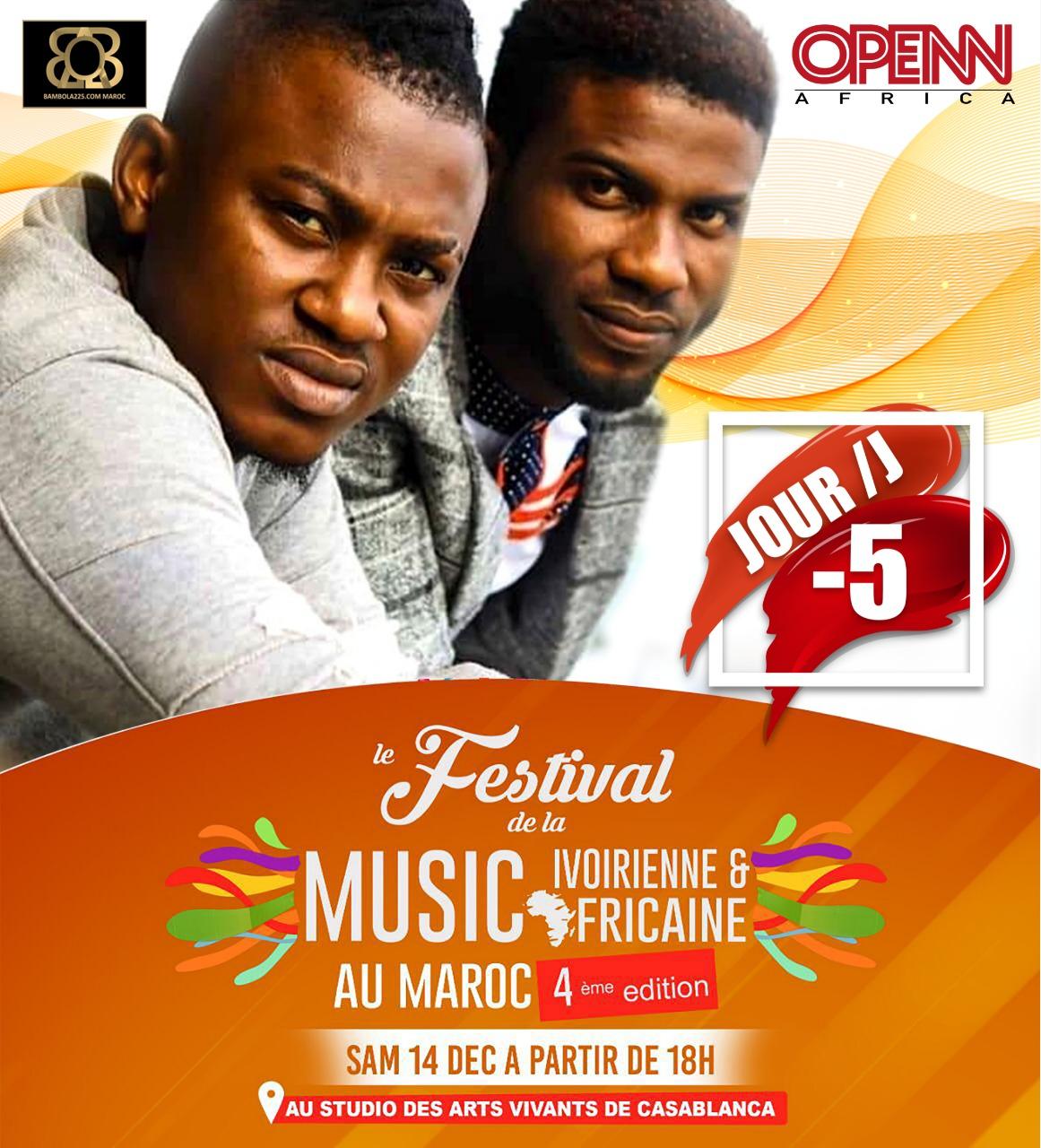 Magic Diezel invité de la 4ème édition du « Festival de la Music Ivoirienne et Africaine » le samedi 14 décembre 2019 à Casablanca, au Maroc. Crédits photos : © DR, OPENN Africa