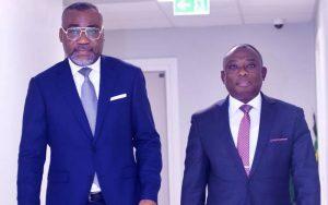 Dr Boga Sako Gervais et le ministre de la réconciliation KKB